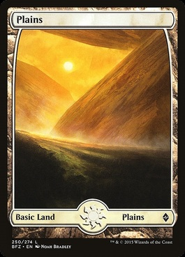 Land Full Art Magic//mtg Unhinged Plains